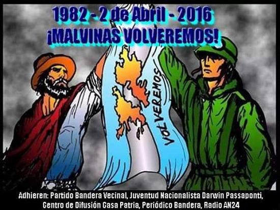 ¡GLORIA Y HONOR A NUESTROS HÉROES DE MALVINAS!